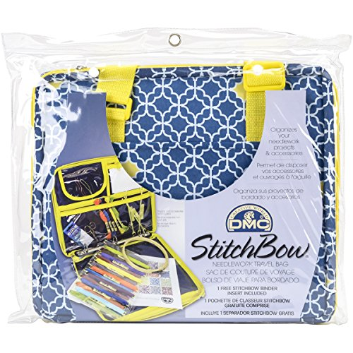 - DMC U1635 Stitchbow Floral Needlework Travel Bag, Dark Blue