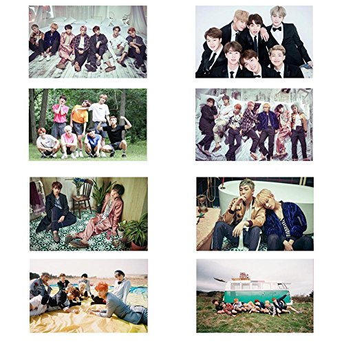 Bosunshine Bangtan Boys BTS Postcards Posters Card Stickers for ARMY RAP MONSTER, JIN, SUGA, J-HOPE, JIMIN, V, and JUNG KOOK H02