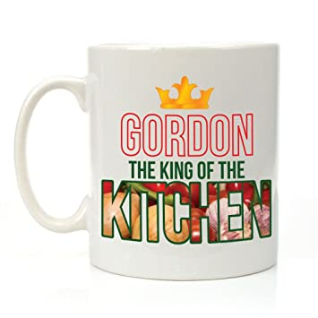 Personalised The King of the Kitchen Mug, Cooking Gifts for Him, Chef Gift Ideas: Amazon.co.uk: Kitchen & Home