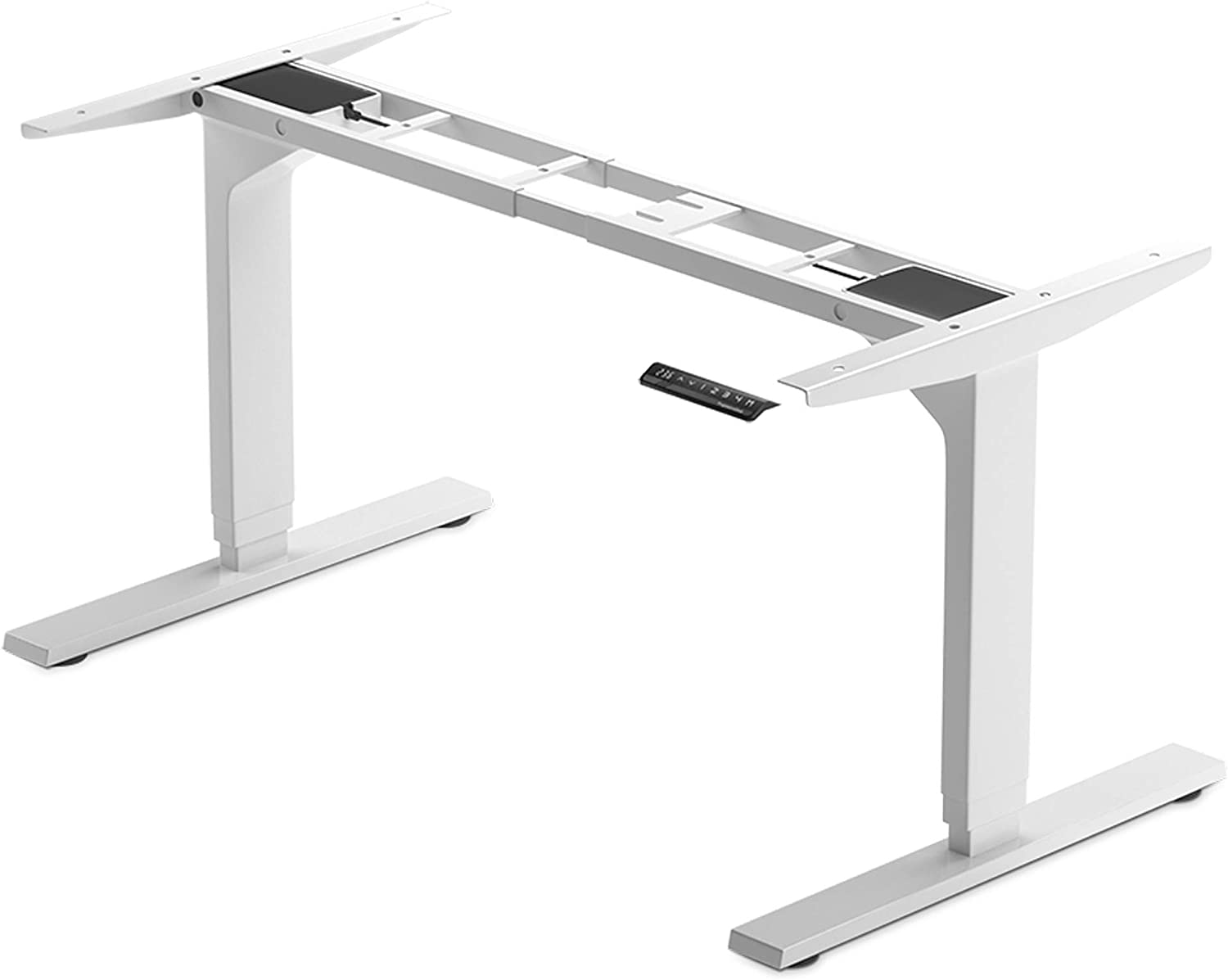"""Standing Desk Legs Dual Motor, Adjustable Height and Width, 3 Stages Frame for sit Stand Home Office desks 