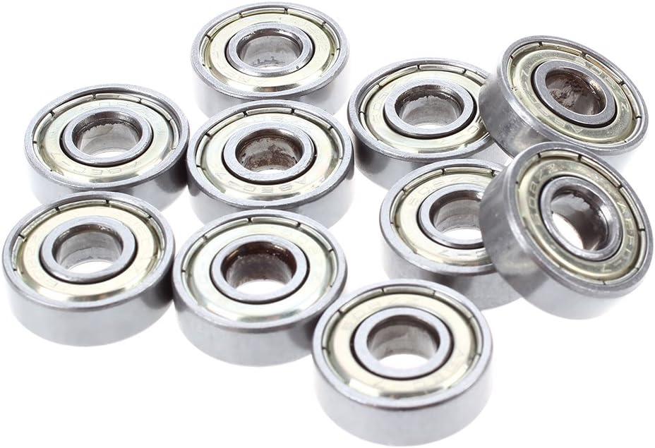 Cikuso Roulements a billes en acier a rainure profonde miniature 608 ZZ 8 x 22 x 7 mm 10 pieces par un paquet