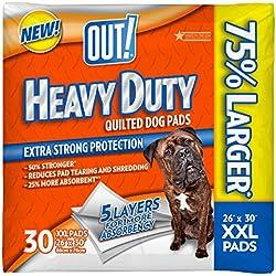 OUT! Heavy Duty XXL Dog Pads, 26 x 30, 30 ct