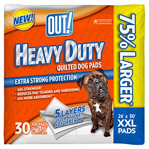 OUT! Heavy Duty XXL Dog and Puppy Pads, XXL - 30-Count