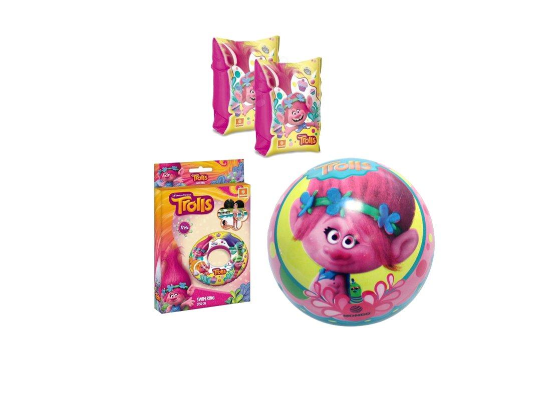 CHANCE Juego N 7 accesorios playa Trolls (Balón 06655 + rosquilla ...