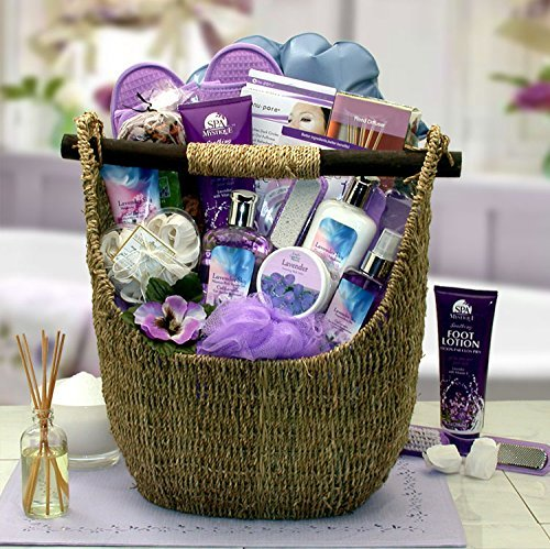 Lavender Ultimate Spa Gift Basket By Broadwaybasketeers Com: Amazon.com : Luxurious Lavender Deluxe Spa Bath And Body