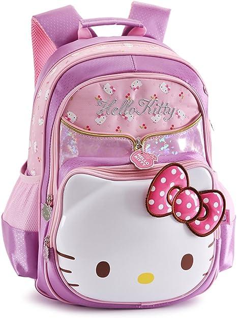 YOURNELO Girls Pretty PU Leather Cute Rucksack School Backpack Bookbag Pink
