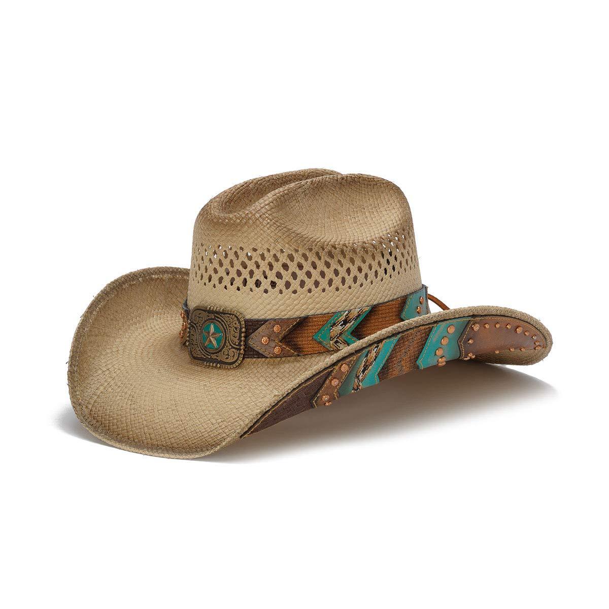 Stampede Hats Women's Chuck Wagon Lone Star Chevron Western Hat L Tea Stain