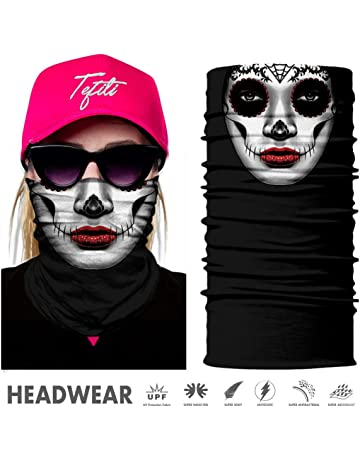 9740009a3f8 TEFITI Face Bandana Mask Elastic Tube Magic Scarf Multifunctional Headbands  with UV Resistance for Men Women