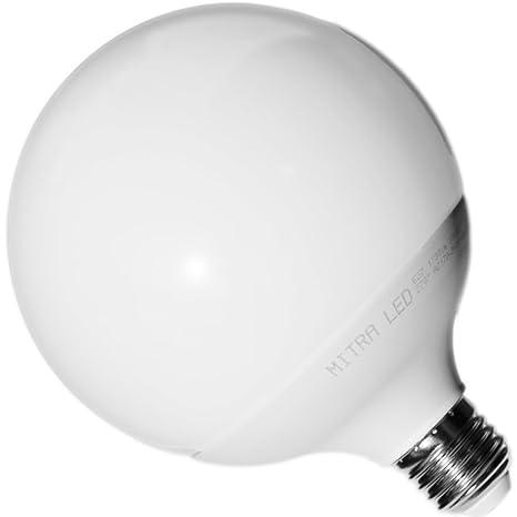 E27 LED Bombilla 1730 lúmenes 18 W=aprox. 120 W forma de globo blanco