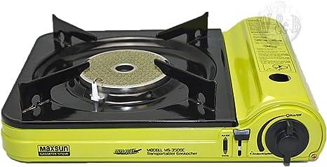 Rsonic Cocina De Gas Portable MS - 3500C. con Vitrocerámica Ajustado Edition Camping Jardín Balcón Picnic