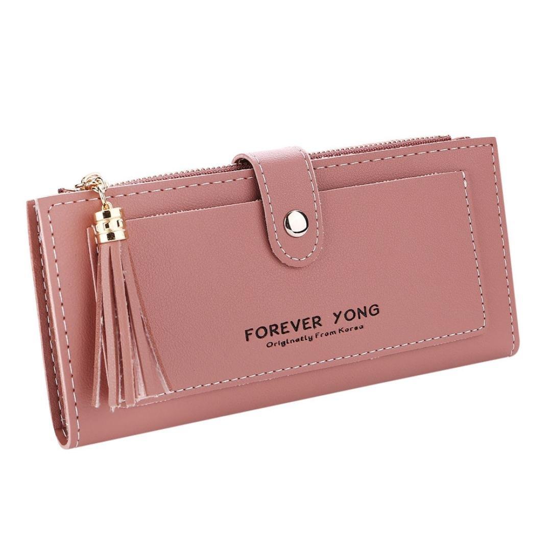 Wallet On Sale,Women Lady Retro Letters Long Wallet Coin Purse Card Holders Handbag Clutch Bag Card Bag Ladies Purse Leather Shoulder Bags Satchel Messenger Bag Duseedik (Red)
