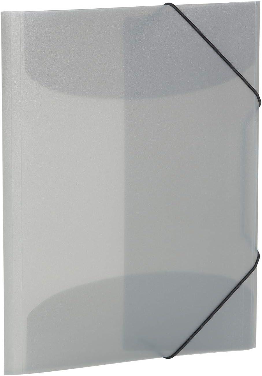 in plastica /Cartellina DIN A4 HERMA 19581/ colore: trasparente//viola con gomma con elastici 1/pezzi