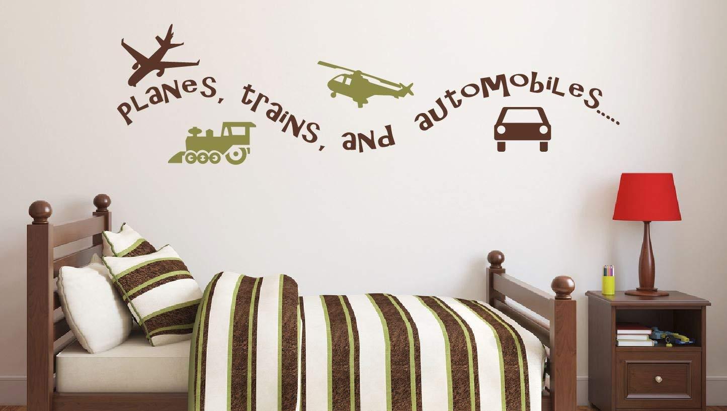 Amazon Com Plains Trains And Automobiles Decal For Boys Room Stick