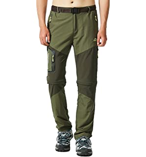 Clothing Jeater Mens Lightweight Convertible Outdoor Fast Dry Breathable Trousers Hiking Pants