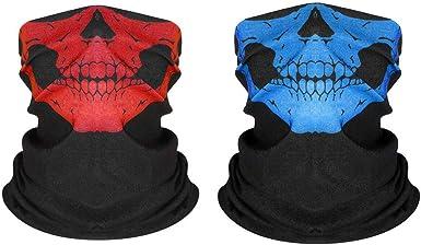 Jintong 2 Pcs Unisex Bandana Cuello Polaina M/áscara Tubo Headwear Bandana Protecci/ón Contra El Polvo Motocicleta Cara Bandana Para Mujeres Hombres Cara Bufanda