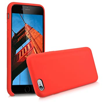 kwmobile Funda para Apple iPhone 6 / 6S - Carcasa de [TPU] para teléfono móvil - Cover [Trasero] en [Rojo]