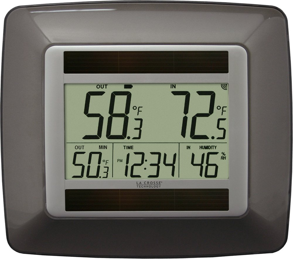 La Crosse Technology WS-8120U-IT-BR-T Solar Temperature & Humidity with Clock