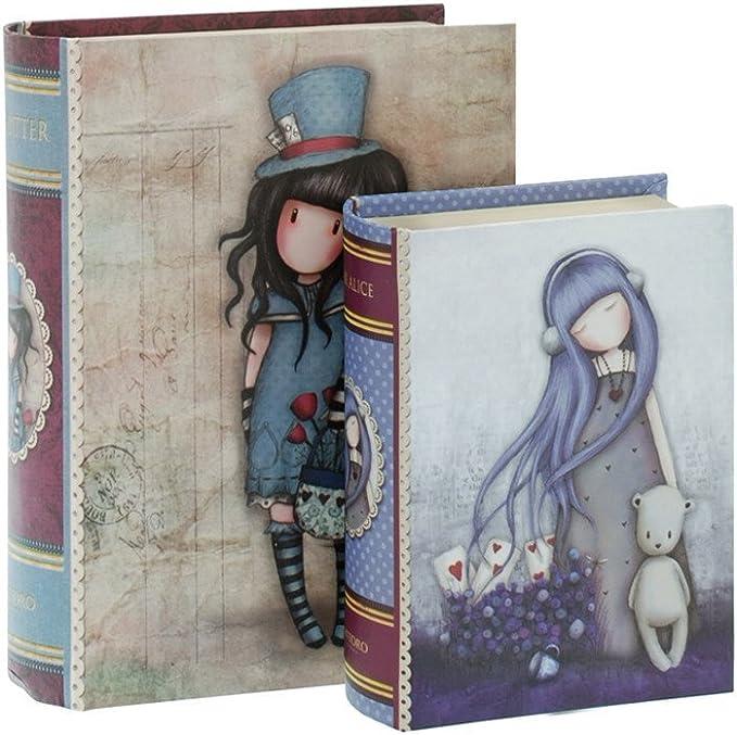 Set 2 cajas de cartón decoradas Gorjuss -