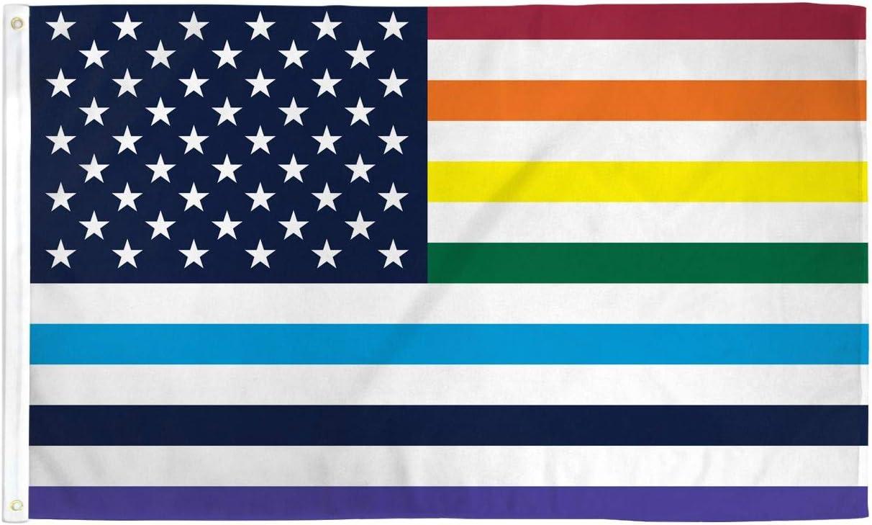 Amazon.com : AZ FLAG USA Rainbow Old Glory Flag 3' x 5' - Gay LGBT American  Flags 90 x 150 cm - Banner 3x5 ft : Garden & Outdoor