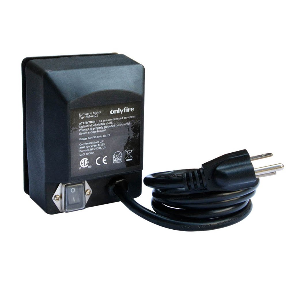 Onlyfire Universal Grill Electric Replacement Rotisserie Motor 120 Volt 4 Watt On/Off Switch, Black by only fire
