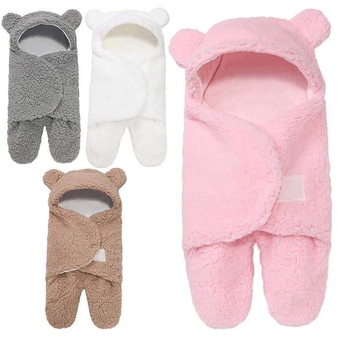 Abbigliamento sportivo ZHOUBA Neonato con Cappuccio Coperta Asciugamano Inverno Neonato Cotone Caldo Dormire Swaddle Bag