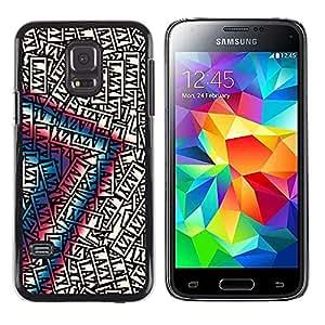 TopCaseStore / la caja del caucho duro de la cubierta de protección de la piel - Lazy Art Quote Motivational Success Random - Samsung Galaxy S5 Mini, SM-G800, NOT S5 REGULAR!