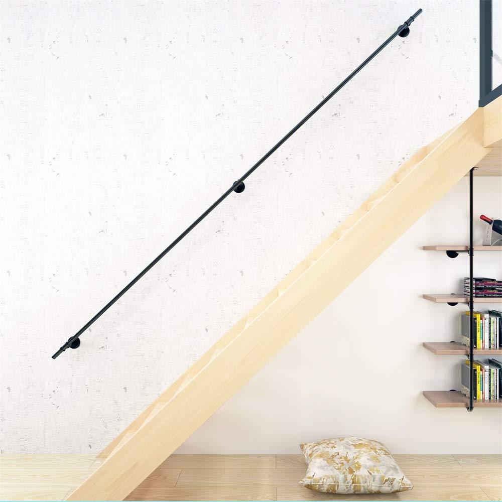 Gr/ö/ße: 200-600 cm YIKE-Schwarz Wasser Rohr Handlauf Wand Treppe Handlauf Home Indoor und Outdoor Duplex Schmiedeeisen Bar Wasser Rohr Kindergarten Gel/änder Griff