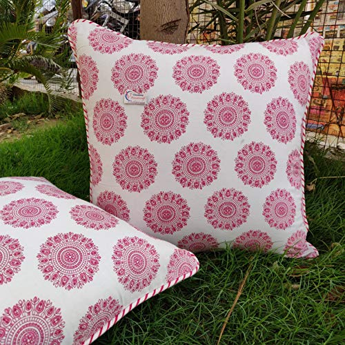 Indian handmade printed cotton doori cushion cover sofa cover 2 pcs pack decoration cushion cover