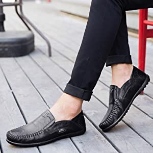 Amazon.com | Zapatos De Hombre Mocasines Casuales Antideslizantes ...