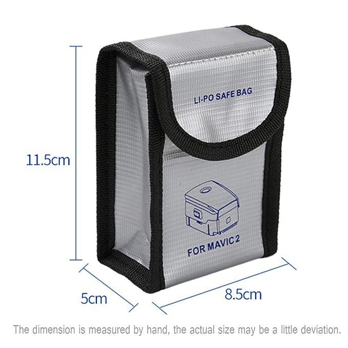 Kingwon Portable Storage Bag Batteria LiPo viaggio borsa trasporto protezione sicura per DJI Mavic Pro//Mavic 2 drone