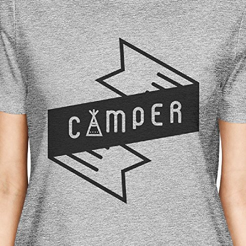 de One Printing corta 365 Camper manga Grey Size mujer Camiseta para wREcOT