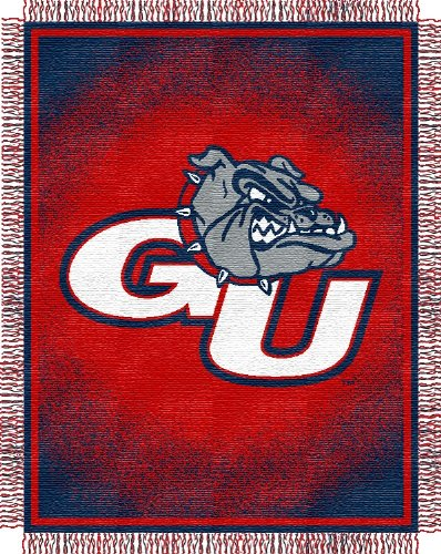 NCAA Triple Woven Jacquard Throw NCAA Team: Gonzaga Bulldogs Triple Woven Throw