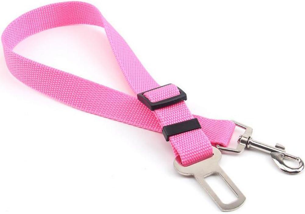 Westeng Cinturón de Seguridad del Perros 2.5x70 cm Ajustable Duradero Cinturón de Seguridad de Coche para Perro Cachorro Gato Gata Mascotas
