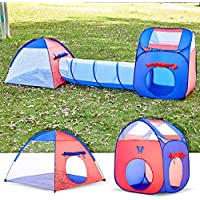 Unicorn 3-in-1 Playhut Hours Kids Play Tent with Tunnel