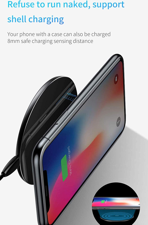 Caricabatterie Wireless Veloce Dual Pad, Pad di Ricarica Ultrasottile Compatibile con Apple Watch 2 3 Dual Pad Charg Compatibile con iPhone XS Max XR X 8 C