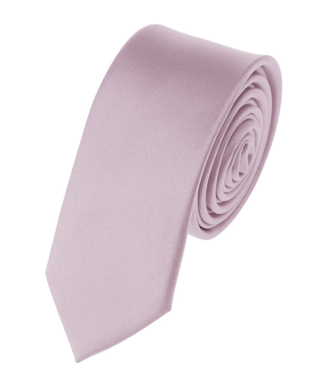 Men's Solid Color 2'' Skinny Tie, Light Pink