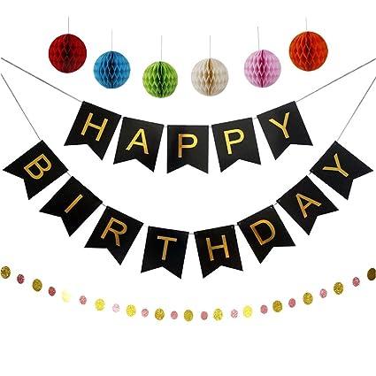 Amazon.com: elhpbwhty banderines de feliz cumpleaños cartas ...