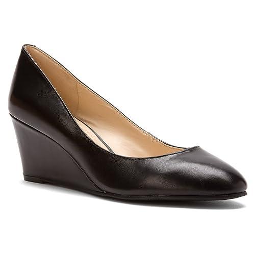 4fa8c7152c Nine West Women's iSpy Wedge,Black Leather,US 6.5 W: Amazon.ca ...