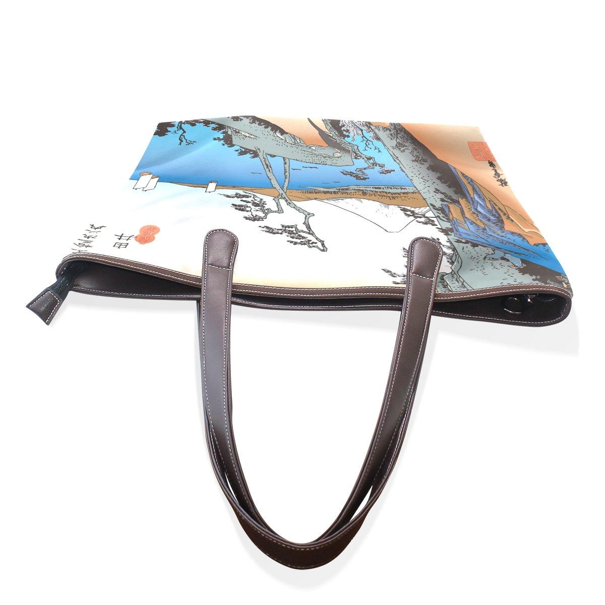 Ukiyoe Ukiyo-E Print Japanese Art Womens Fashion Large Shoulder Bag Handbag Tote Purse for Lady