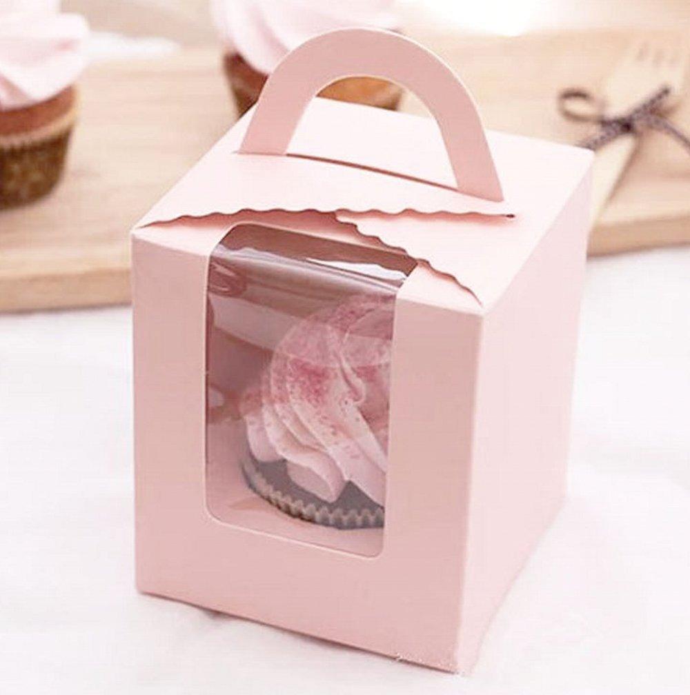 Amazon.com: Clear Baking Cake Food-Grade Cake Box Single Cup Muffin ...