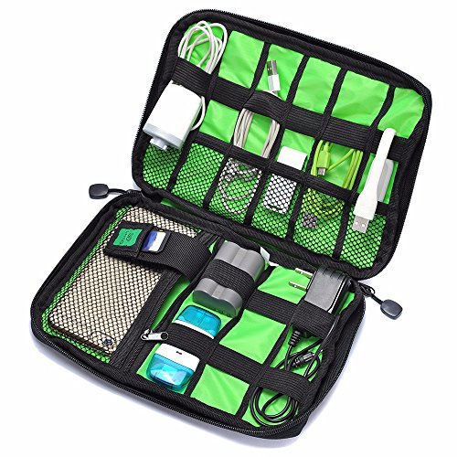 Findbest® Grid Travel Office Universal Cable Organizer Electronics Accessories Cases Waterproof Storage Bag For Various USB - Phone - Charger and Cable