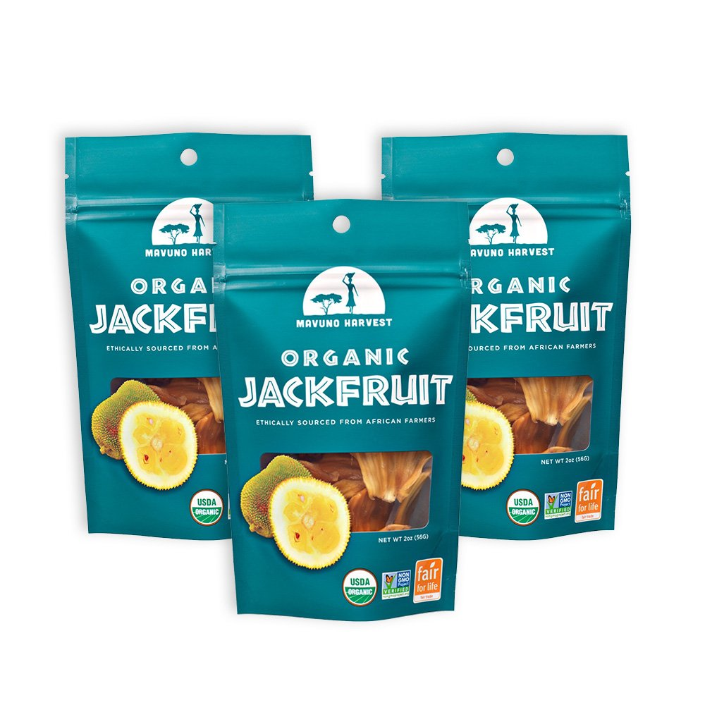 Mavuno Harvest Fair Trade Organic Dried Fruit, Jackfruit, 3 Count