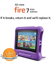 """All-New Fire 7 Kids Edition Tablet, 7"""" Display, 16 GB, Purple Kid-Proof Case"""
