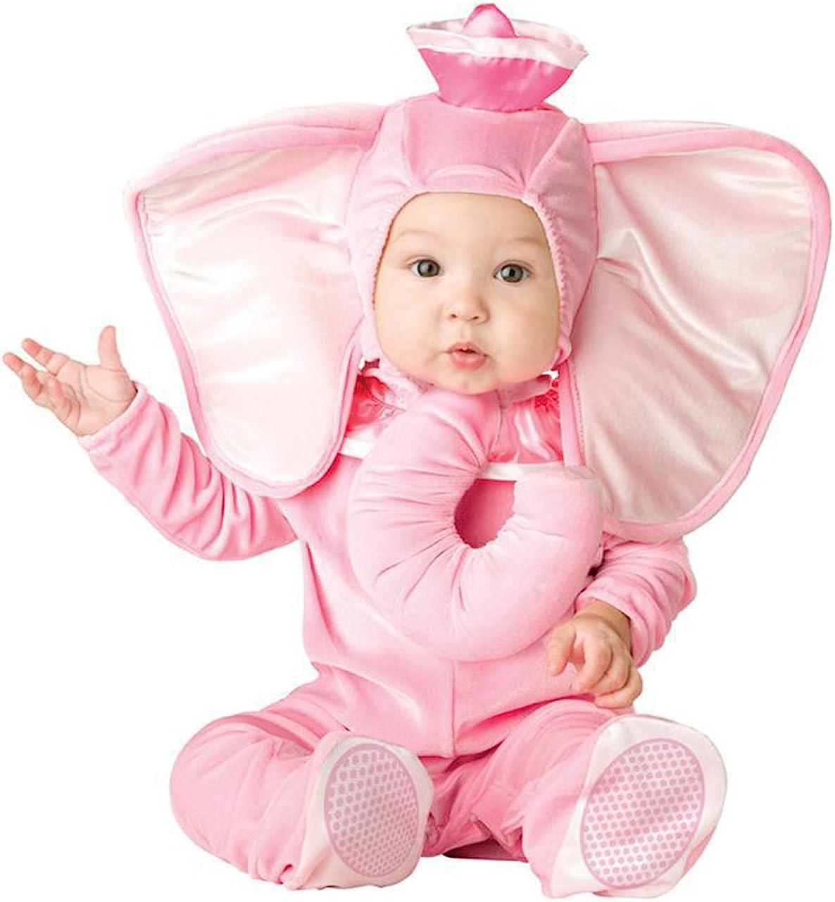 Disfraz de Elefante Rosa de Manga Larga de 3 a 24 m para bebé ...