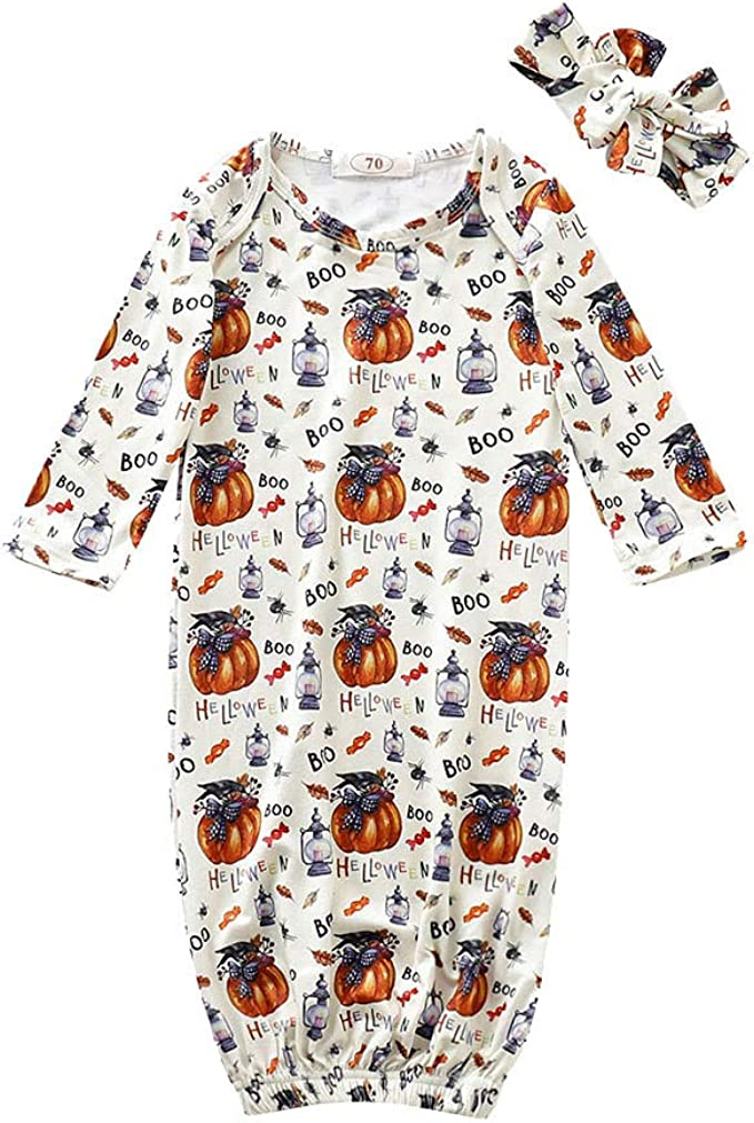 Le ragazze Baby Toddler Carino Zucca Costume Halloween fantasia Abito Outfit 0-24 mesi