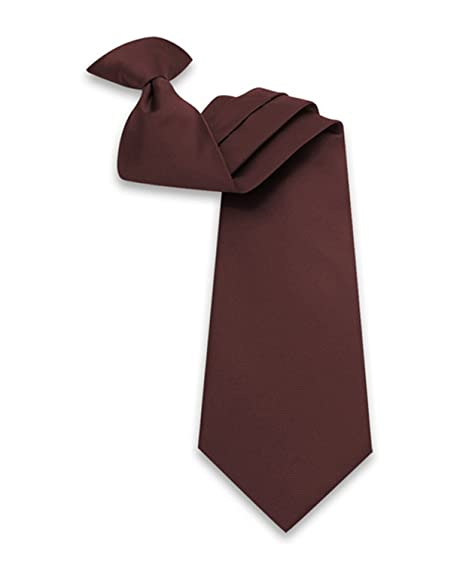 347a767d31cd Men's Solid Clip-on Tie (Brown) at Amazon Men's Clothing store: