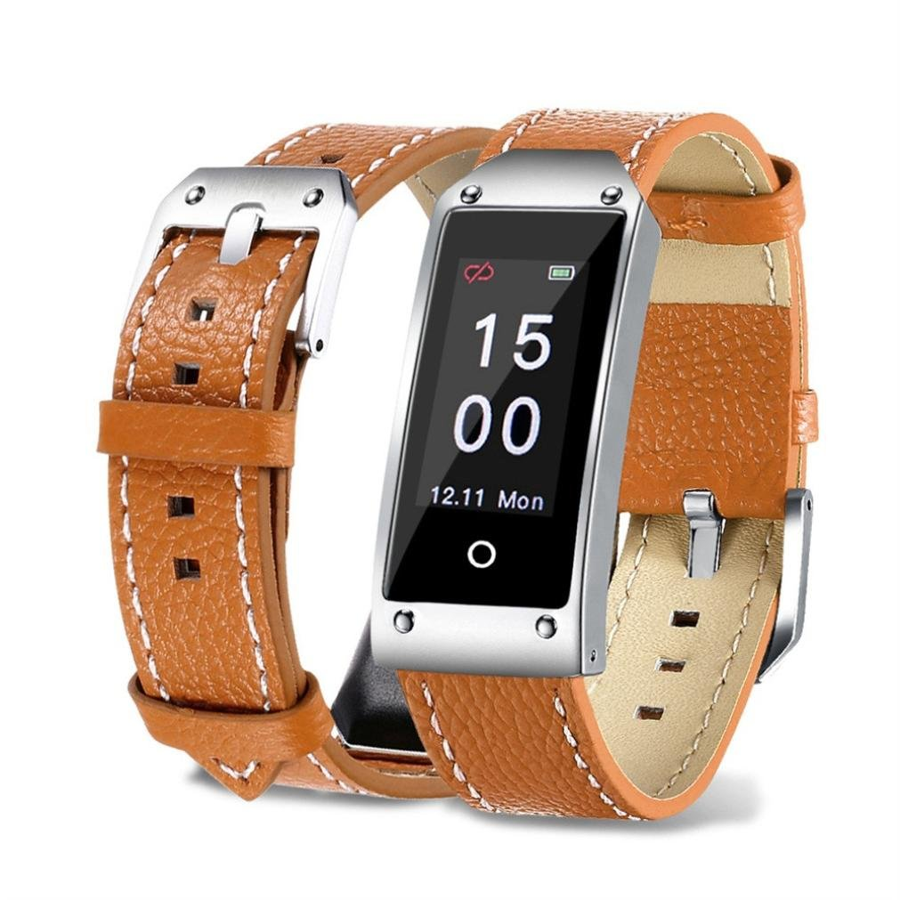 AutumnFall Smart Watch、ファッション人気y2カラー画面血圧/ハートレートブレスレット腕時計スポーツ B07BT7XWGK ブラウン