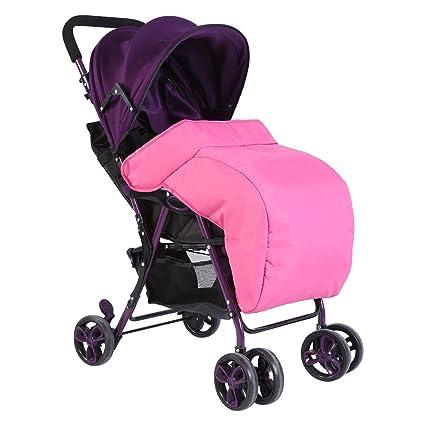 Cubierta de Pie Impermeable Cochecito Universal Bebé Protectores de Lluvia y Viento para Carritos de Bebé(Rosa)
