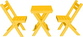 product image for Amish Poly Coronado Square Folding Bistro Set (Lemon Yellow)