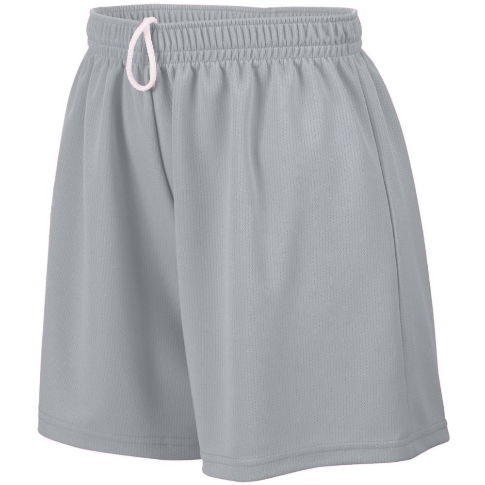 STYLE 960 LADIES WICKING MESH SHORT (SMALL, SILVER GREY)